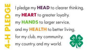 Image of the 4-H pledge